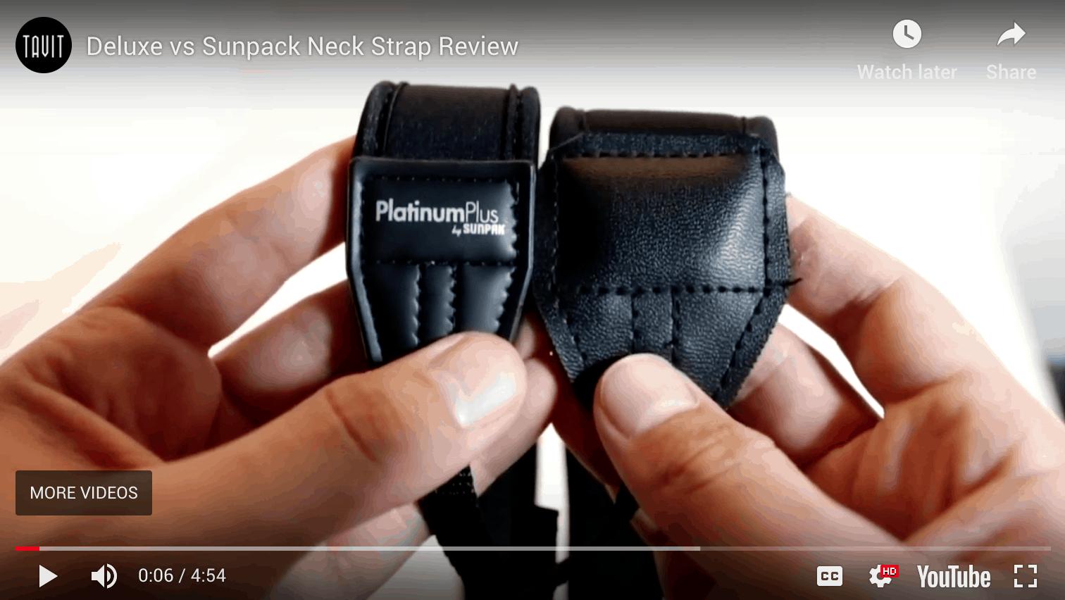 Deluxe vs Sunpack Neck Strap