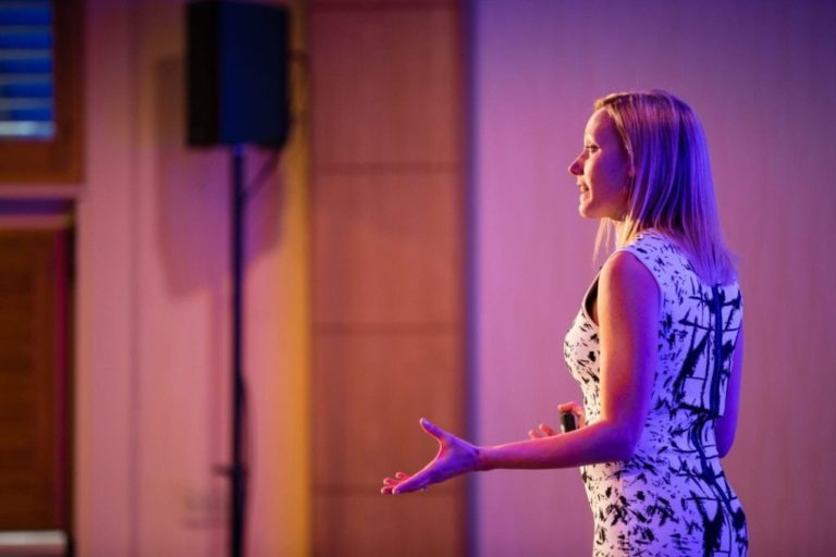 Corporate Event Photography Female Speaker