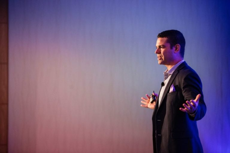 Corporate Event Photography Male Speaker