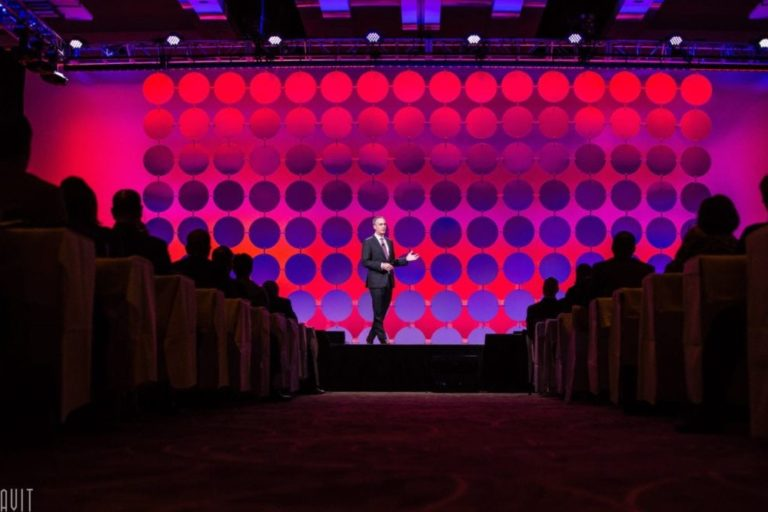 Corporate Event Photography Speaker on Stage