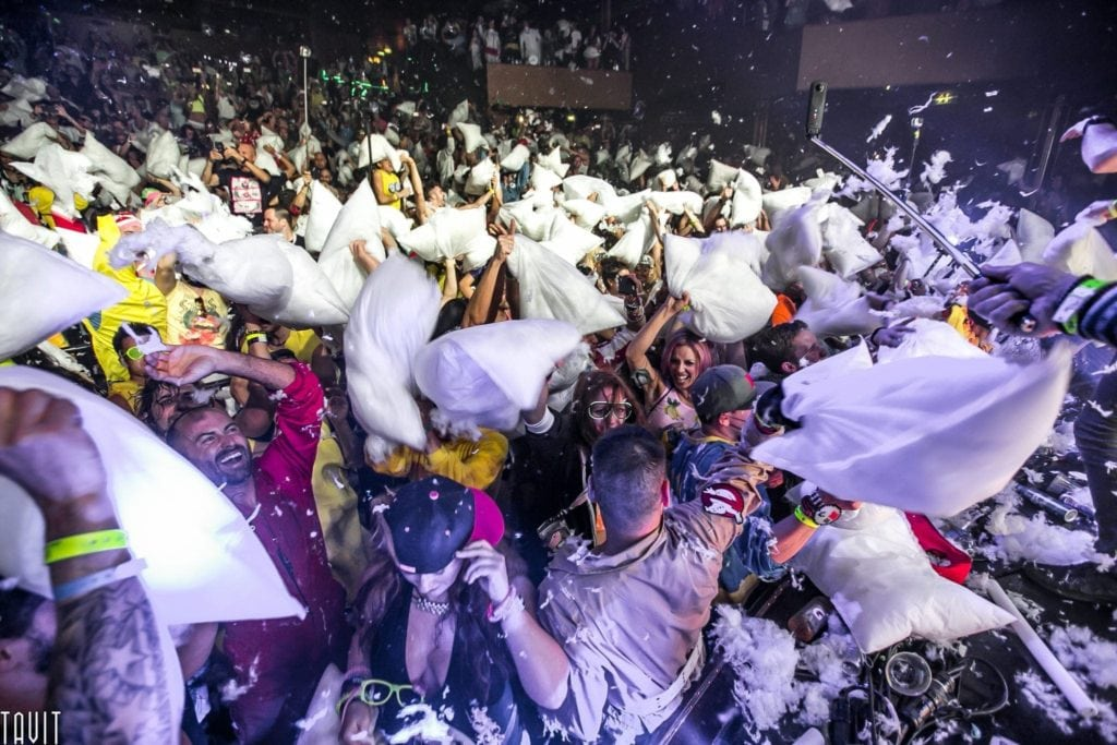 Concert Photography Nightclub Pillow Fight