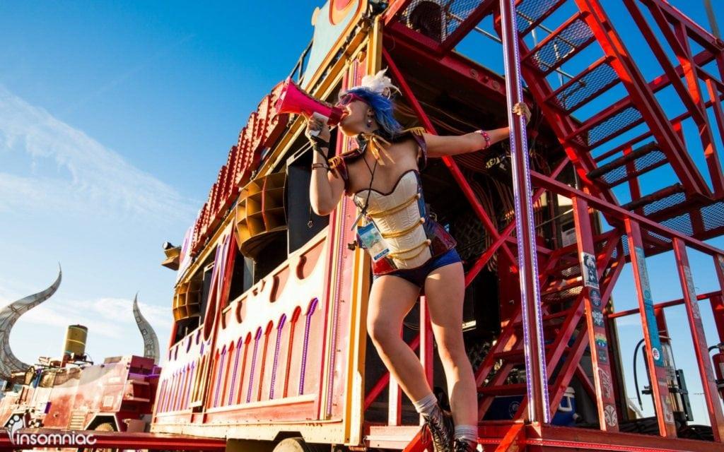 EDC Las Vegas 2014   Girl with megaphone